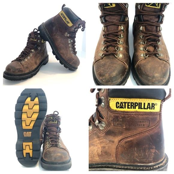 Caterpillar Leather Alaska Work Boot Steel Toe 9